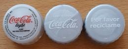 COCA COLA LIGHT - ESPAÑA. 3 TAPONES DIFERENTES. USADO - USED. - Soda