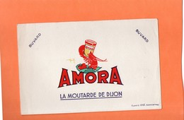 "BUVARD. DIJON (COTE D'OR)  MOUTARDE "" AMORA ""   Achat Immédiat - Moutardes"