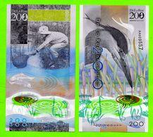 POLYMER Werbenote DE LA RUE 2013, RRRR, UNC, Grey Heron 200, Wih Window - Gran Bretagna