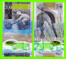 POLYMER Werbenote DE LA RUE 2013, RRRR, UNC, Grey Heron 200, Wih Window - Groot-Brittanië