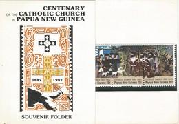 Papua New Guinea 1982 Catholic Church Centenary Souvenir Folder - Papoea-Nieuw-Guinea