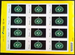 BRAZIL Personalized Stamp PB 58 Chapecoense 2017 Sheet - Brazil