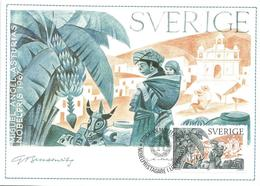 Sweden 1985 Stockholm Nobel Prize Literature Miguel Angel Asturias Guatamala Maximumcard - Nobelprijs