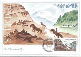 Sweden 1985 Stockholm Nobel Prize Literature Halldor Laxness Iceland Horse Maximumcard - Nobelprijs