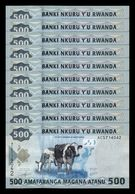 Ruanda Rwanda Lot Bundle 10 Banknotes 500 Francs 2013 Pick 38 SC UNC - Rwanda