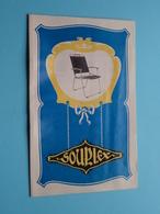 SOUPLEX Stalen Buis Meubelen / Meubles En Tubes Acier ( Zie / Voir Photo ) Folder / Depliant ! - Advertising