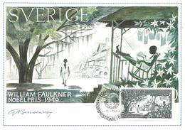 Sweden 1985 Stockholm Nobel Prize Literature William Faulkner USA Maximumcard - Nobelprijs