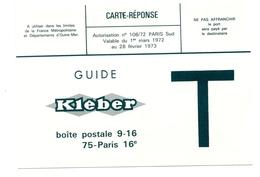 Kleber Carte - Réponse Lettre T   1973 - Cartes