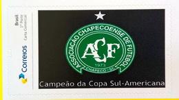 BRAZIL Personalized Stamp PB 58 Chapecoense 2017 - Brazilië