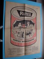 RUTEX Juni 1958 ( Zie / Voir Photo - Edit. : Impredi Liège ) Folder / Depliant ! - Publicités