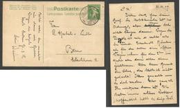 Switzerland - Stationery. 1909 (22 July) Gleis - Bern. 5c Green Stationary Card. XF. - Switzerland