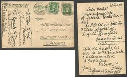Switzerland - Stationery. 1909 (1 May) Zurich - Canada, South Ste. Marie, Ont. 5c Green Stationary Card + Adtl. VF. Tran - Switzerland