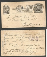 CUBA - Stationery. 1912 (7 Dic) Habana - Guatemala (26 Dic) EP 2c Negro. Rare Destionation. - Non Classés