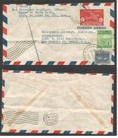 CUBA. 1952 (24 Nov) Minas De Santa Lucia, Pinar Del Rio, Usa, Los Angeles. EP Sobre 8c Rojo Via Aire + Franqueo Adiciona - Non Classés