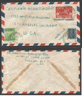CUBA - Stationery. 1952 (13 Aug) Minas De Santa Lucia, Pinar Del Rio - USA, Los Angeles. Entero Postal Oc Via Aerea + Fr - Non Classés