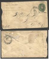 CUBA - Stationery. 1899 (20 July) Guanajay - USA, Norwood. US 2c Green Stationery Envelope, Cuba 2c Overprinted. Rough O - Non Classés
