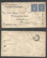 CHILE. 1893 (28 Febr) Concepcion - UK, Birmingham (5 Apr) - Chile