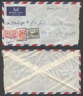 SAUDI ARABIA. 1962 (13 Oct) Dammam Local Usage. Air Multifkd Envelope. - Saudi Arabia