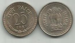 India 25 Paise 1987. - Inde
