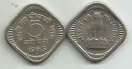 India 5 Naye Paise 1963. - India