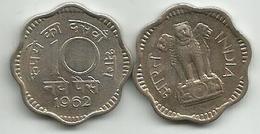 India 10 Naye Paise 1962. - Inde