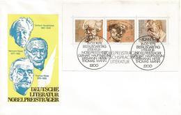 Germany 1978 Bonn Nobel Prize Literature Thomas Mann Hermann Hesse Gerhart Hauptmann FDC Cover - Nobelprijs