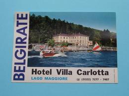 "Hotel Villa Carlotta "" BELGIRATE "" Lago Maggiore ( Etiket / See Photo For Detail ) ! - Cartes De Visite"