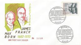 Germany 1982 Bonn Nobel Prize James Franck Max Born FDC Cover - Nobelprijs