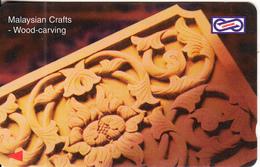MALAYSIA(GPT) - Woodcarving(RM50), CN : 87USBD/B, Tirage 15000, Used - Malaysia