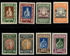Lithuania 1933 Mi 364-371 A MNH ** - Lituanie