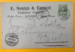 8633  - F.Seniga & Carozzi Fabbrica Capelli Lugano  1.03.1903 - TI Tessin