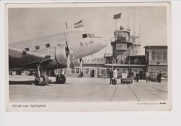 Vintage Rppc KLM K.L.M. Royal Dutch Airlines Douglas Dc-3 @ Schiphol Airport - 1919-1938: Between Wars