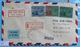 Trinidad & Tobago Air Mail Registered Cover FDC 1929 - Trinidad & Tobago (...-1961)