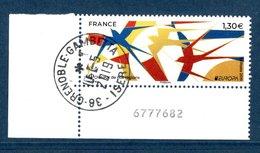 France 2019.EUROPA.Oiseaux De Nos Régions.Cachet Rond Gomme D'Origine. - France