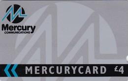 Mercury, MER005, Corporate Silver - 2 MERC, 2 Scans. - [ 4] Mercury Communications & Paytelco