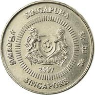 Monnaie, Singapour, 10 Cents, 2007, Singapore Mint, TTB, Copper-nickel, KM:100 - Singapur