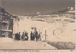 CPSM L'Alpe D'Huez - Le Téléski Du Lac Blanc (avec Jolie Animation) - Sonstige Gemeinden