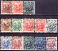 BARBADOS 1921-24 SG #213-28 Compl.set Incl. Shade For 1d Used CV £301 - Barbados (...-1966)