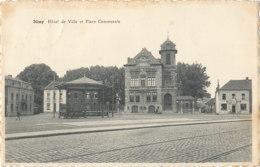 AN 197  / C P A   NIMY   HOTEL DE VILLE ET PLACE COMMUNALE - Mons