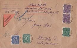 DR Wert-NN-Brief Mif Minr.162,168,2x 171,173 Berlin 22.2.22 Seltene Portostufe - Covers & Documents
