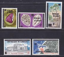 DJIBOUTI N°   468 à 472 ** MNH Neufs Sans Charnière, TB (D9005) Cosmos, Coquillages - 1977 - Yibuti (1977-...)
