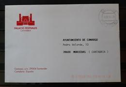 PALACIO FESTIVALES CANTABRIA. CARTA CIRCULADA AYUNTAMIENTO DE CAMARGO. - Otros