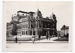 1955 YUGOSLAVIA, CROATIA, ZAGREB TO BUDAPEST, CROATIAN NATIONAL THEATRE - Yugoslavia