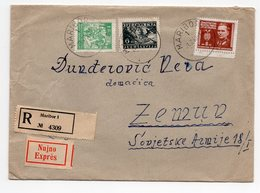 1949 YUGOSLAVIA, SLOVENIA, MARIBOR TO ZEMUN, SERBIA, RECORDED, EXPRESS MAIL - 1945-1992 Socialist Federal Republic Of Yugoslavia