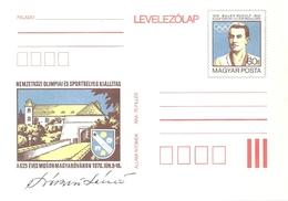 3279Ic Hungary Postcard Olympics Sport Athletics Discus Coat-of-Arms Unused RARE - Summer 1900: Paris