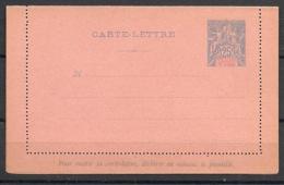 Inde - 1892 - N°Yv. 6 Carte Lettre - Etat Strictement Neuf - Superbe - Indien (1892-1954)
