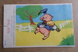 NIF NIF - Les Trois Petits Cochons - Walt Disney - Publicité Cadum - Dessin Animé ( Image, Chromos ) - Vieux Papiers