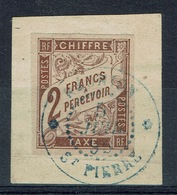 REUNION, General Issues, Postage Due, 1884, Superb Postmark From Saint-Pierre, VFU SCARCE - Postage Due