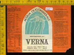 Etichetta Acqua Oligominerale Verna -  Arezzo (piccolo Difetto) - Altri