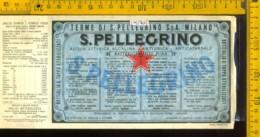 Etichetta Acqua Minerale S. Pellegrino  BG - Altri